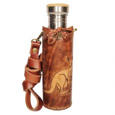 Kangaroo brown Deluxe Vesica waterbottlecase 1 of 4
