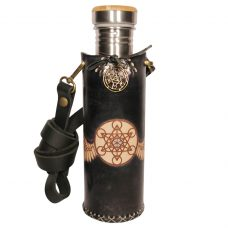 Metatrons Wings black Deluxe Vesica waterbottlecase 1 of 4