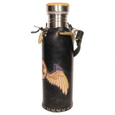 Metatrons Wings black Deluxe Vesica waterbottlecase 2 of 4