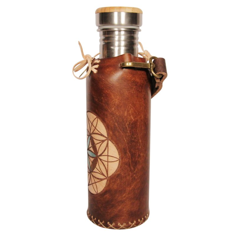 Seed of life B brown Deluxe Vesica waterbottlecase 2 of 4