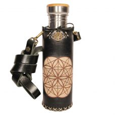Seed of life sqr black Deluxe Vesica waterbottlecase 1 of 4