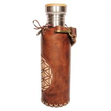 Seed of life brown Deluxe Vesica waterbottlecase 2 of 4