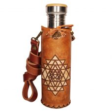 Sri Yantra timbrown Deluxe Vesica waterbottlecase 1 of 4