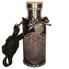 Flower of life black 532ml Deluxe Vesica waterbottlecase 1 of 4