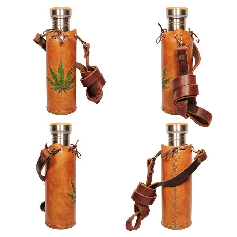 Hemp A Tan Deluxe Vesica waterbottlecase collage