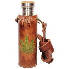 Hemp Brown Deluxe Vesica waterbottlecase 1 of 4