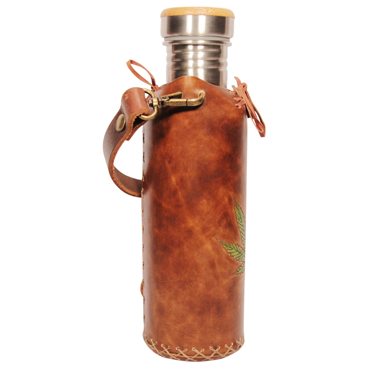 Hemp Brown Deluxe Vesica waterbottlecase 4 of 4