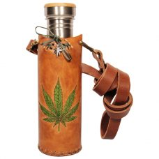 Hemp Tan Deluxe Vesica waterbottlecase 1 of 4