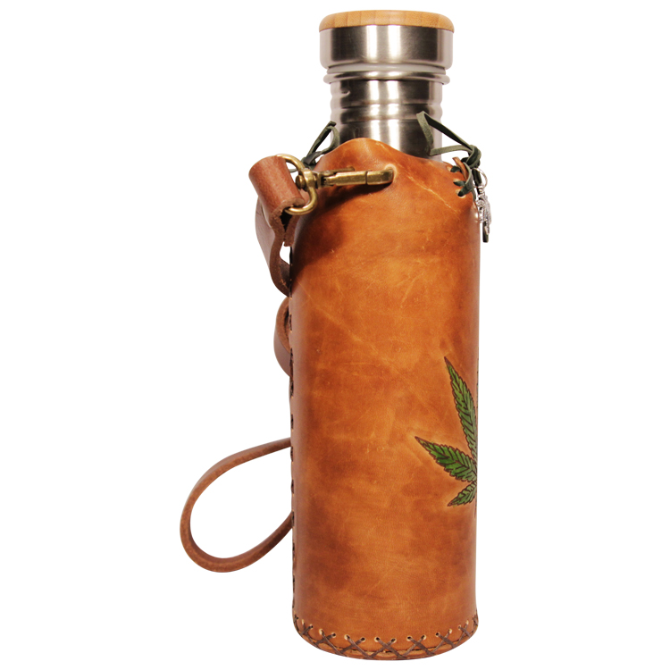 Hemp Tan Deluxe Vesica waterbottlecase 4 of 4
