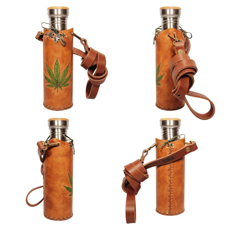 Hemp Tan Deluxe Vesica waterbottlecase collage