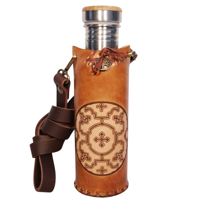 Shipibo Timbrown Deluxe Vesica waterbottlecase 1 of 4