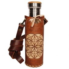 Seed of life timbrown Deluxe Vesica waterbottlecase 1 of 4