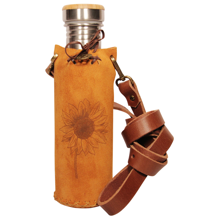 Suede Tan Vesica waterbottlecase 1 of 4