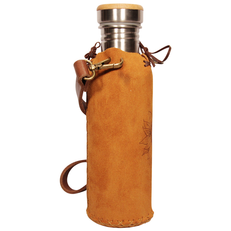 Suede Tan Vesica waterbottlecase 4 of 4