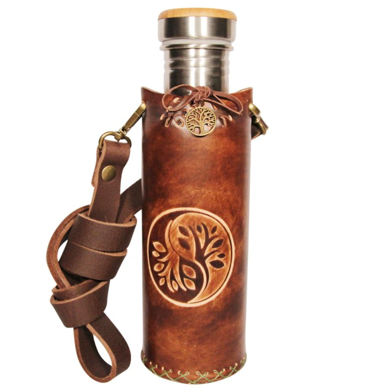 Yin Yang brown Deluxe Vesica waterbottlecase 1 of 4