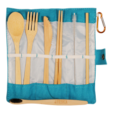 Bamboo Cutlery Aqua Set