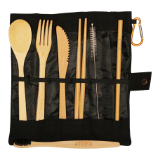 Bamboo Cutlery Black Set