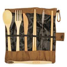 Bamboo Cutlery Brown Set