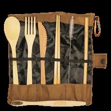 Bamboo Cutlery Brown Set