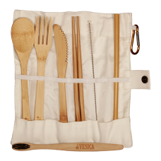 Bamboo Cutlery White Set