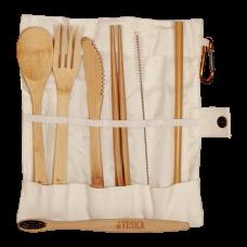 Bamboo Cutlery White Set